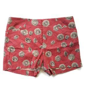 NEW Ann Taylor LOFT Pink Flat Front Chino Shorts 6